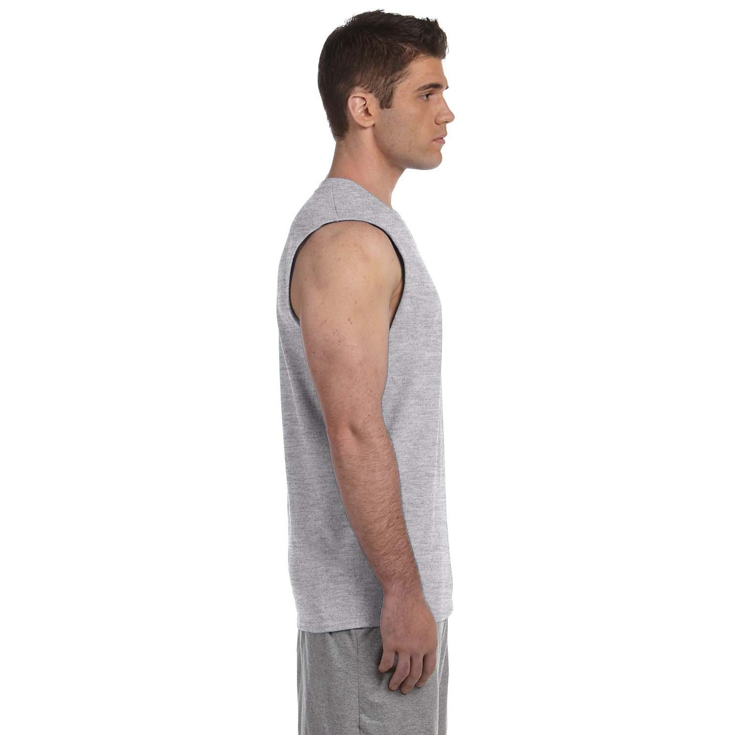 fd1355432a6c83 Shop Gildan Men s Ultra Cotton Sleeveless T-shirt - On Sale - Free Shipping  On Orders Over  45 - Overstock - 8988626