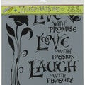 "Crafter's Workshop Template 12""X12""-Live, Love & Laugh"
