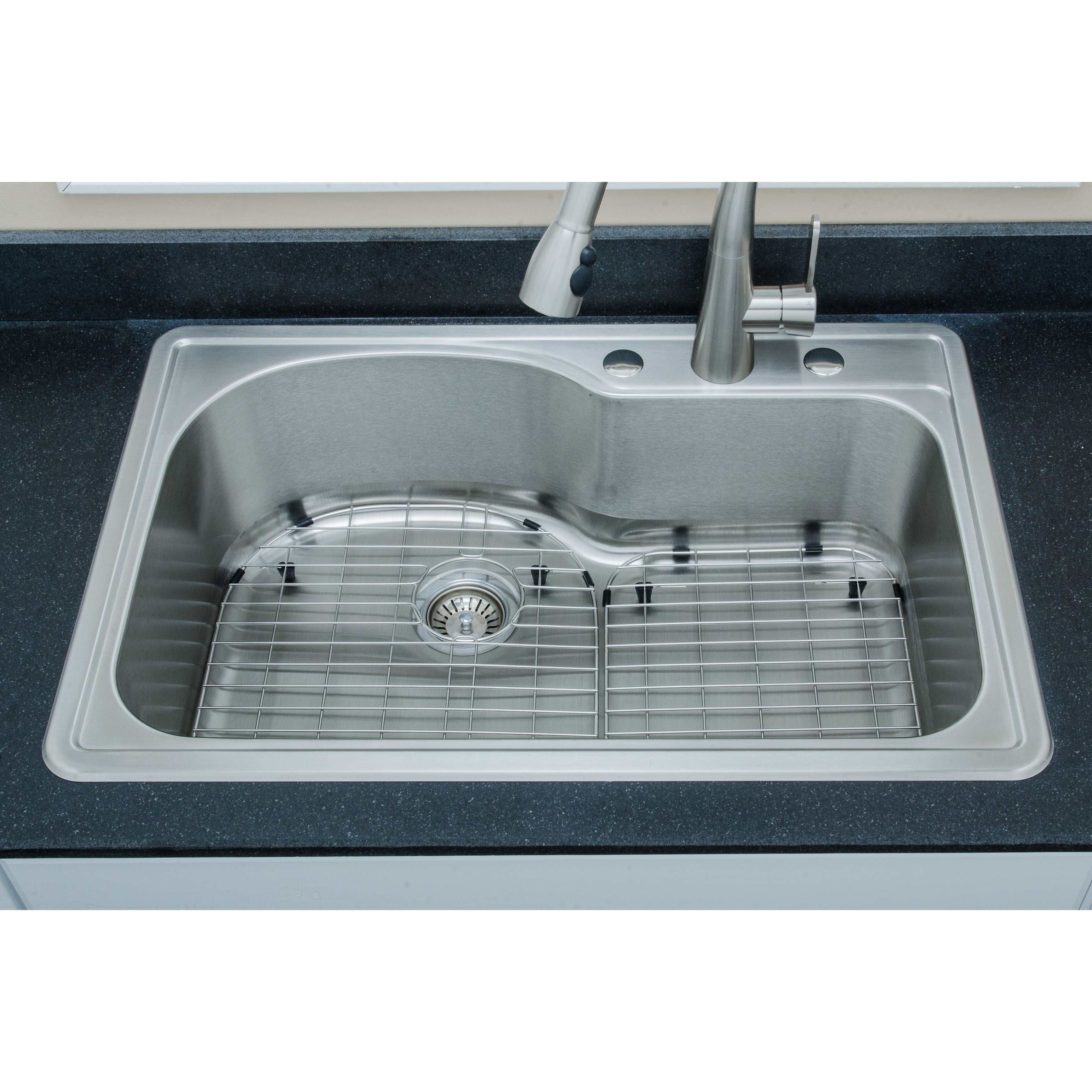 Shop Wells Sinkware 18 Gauge Offset Single Bowl Topmount Stainless ...