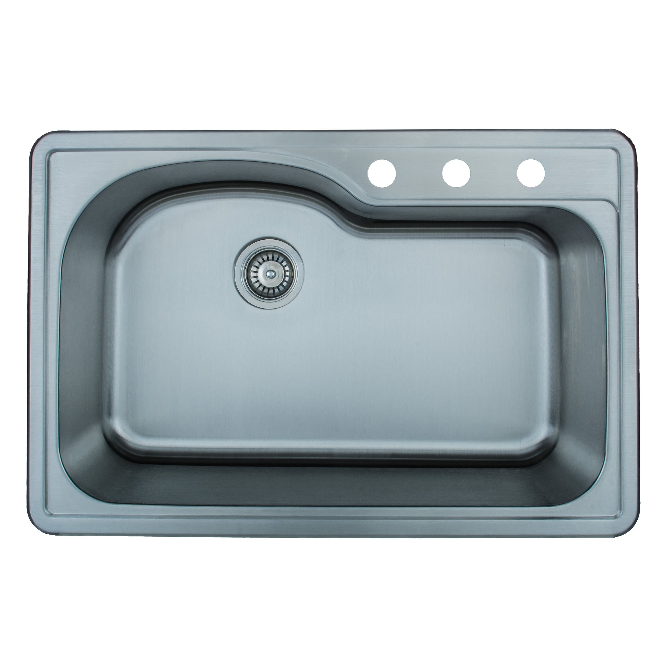 Wells Sinkware 18 Gauge Offset Single Bowl Topmount Stainless Steel ...