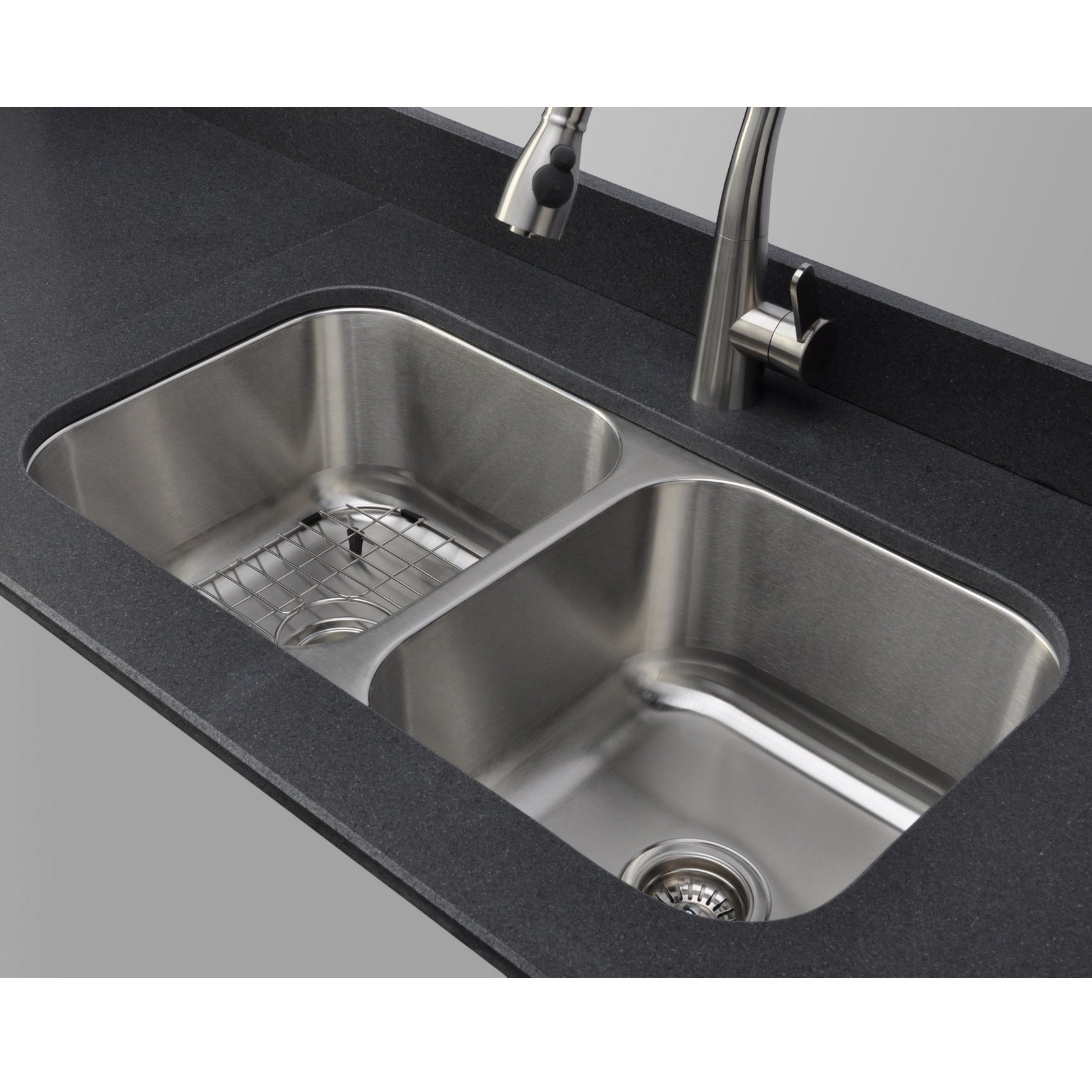 Double Bowl Undermount Stainless Steel Kitchen Sink Wells sinkware 18 gauge 5050 equal double bowl undermount stainless wells sinkware 18 gauge 5050 equal double bowl undermount stainless steel kitchen sink free shipping today overstock 16199009 workwithnaturefo
