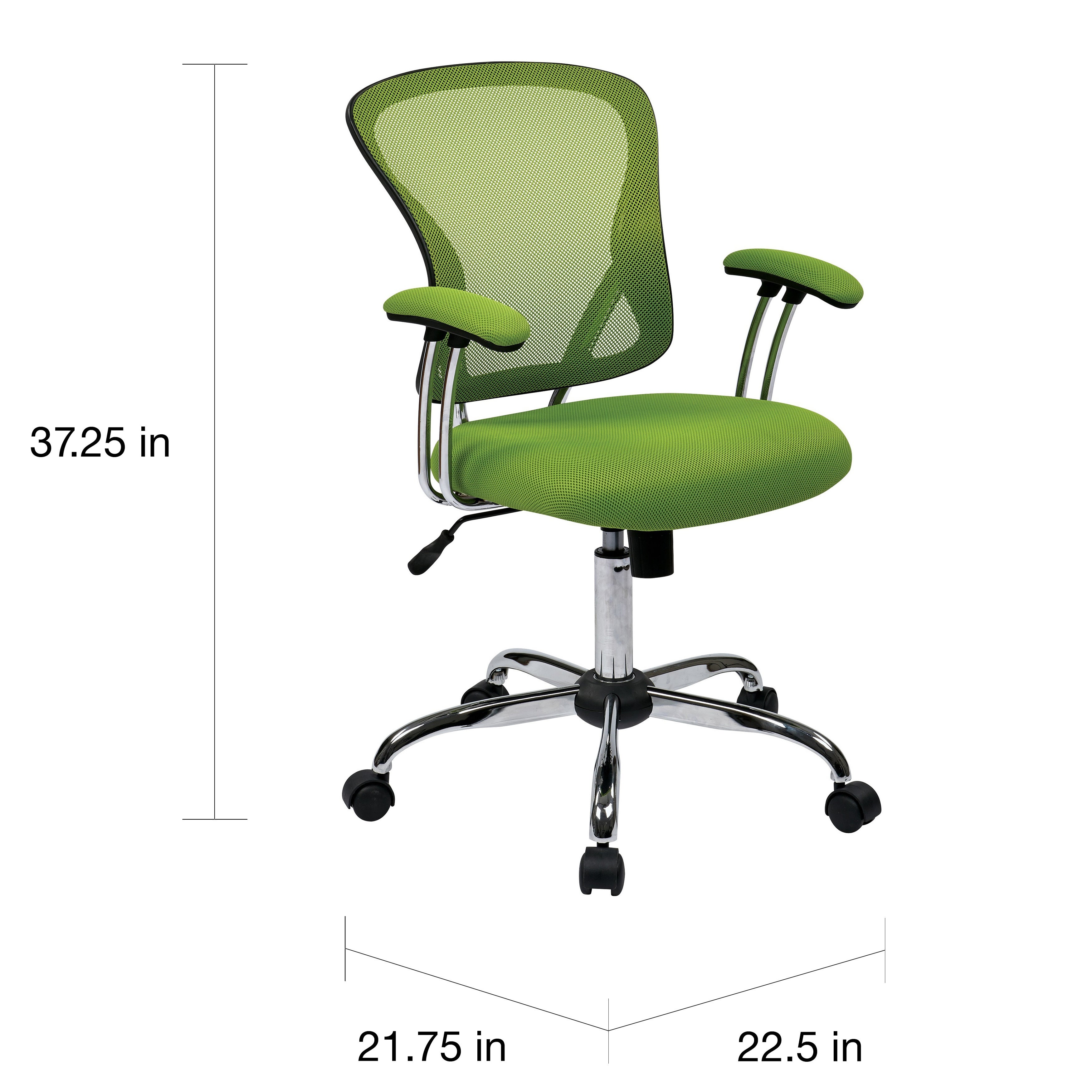 office chair controls. the curated nomad lapaglia chrome mesh vinyl adjustable tilt tension office chair - free shipping today overstock 16206536 controls m