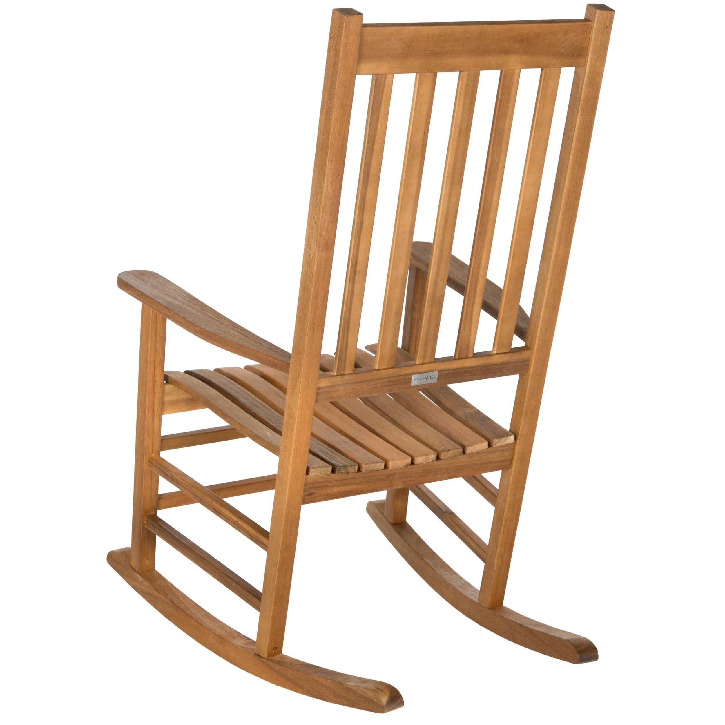 Shop Safavieh Shasta Finish Brown Acacia Wood Rocking Chair On