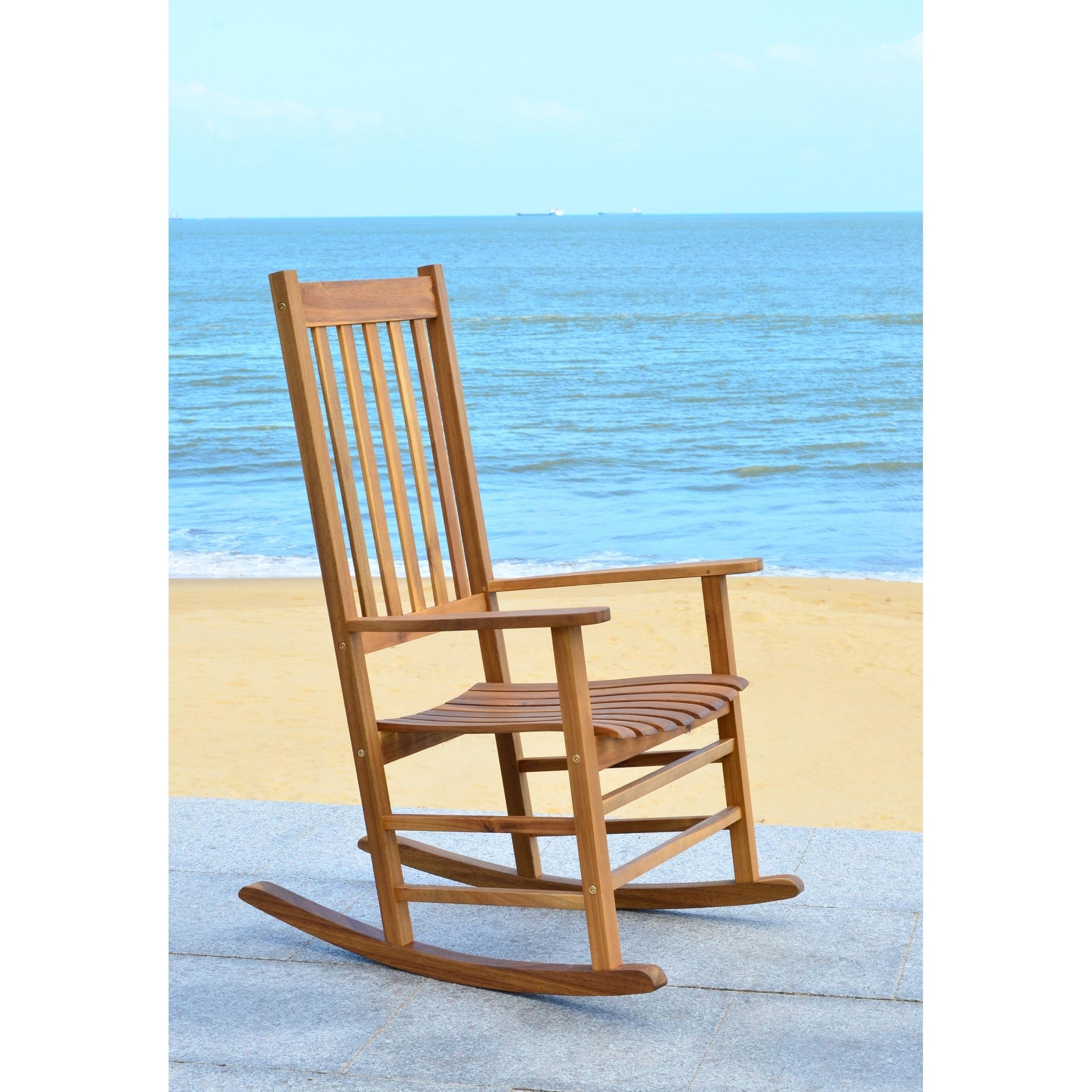 Safavieh Shasta Finish Brown Acacia Wood Rocking Chair - Free ...