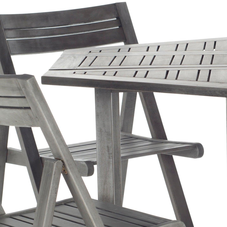 Safavieh Kerman Grey Wash Acacia Wood 5 piece Outdoor Dining Table