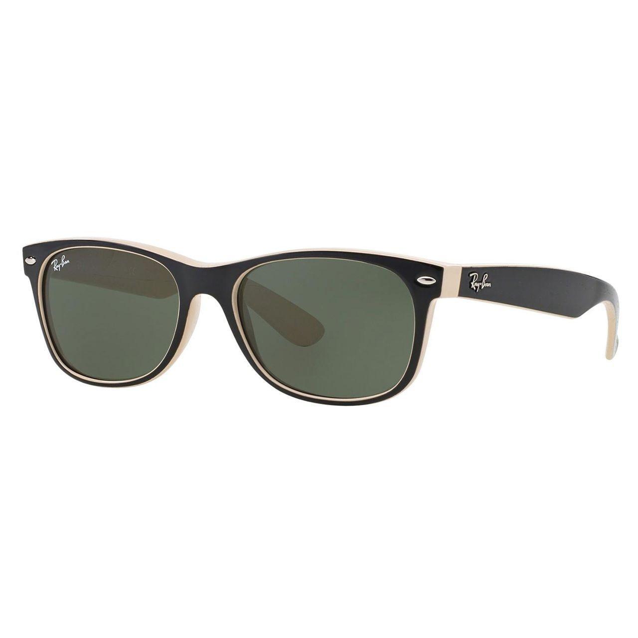 e133233754 Shop Ray-Ban Men s Black on Beige Wayfarer Sunglasses (55 mm) - Free ...