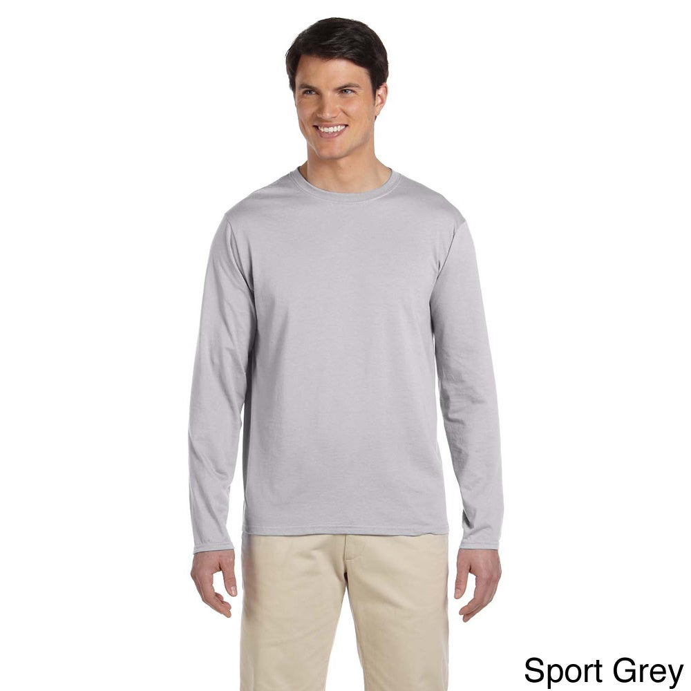 6e4159b4828 Shop Men s Softstyle Cotton Long Sleeve T-shirt - On Sale - Free Shipping  On Orders Over  45 - Overstock - 9007925