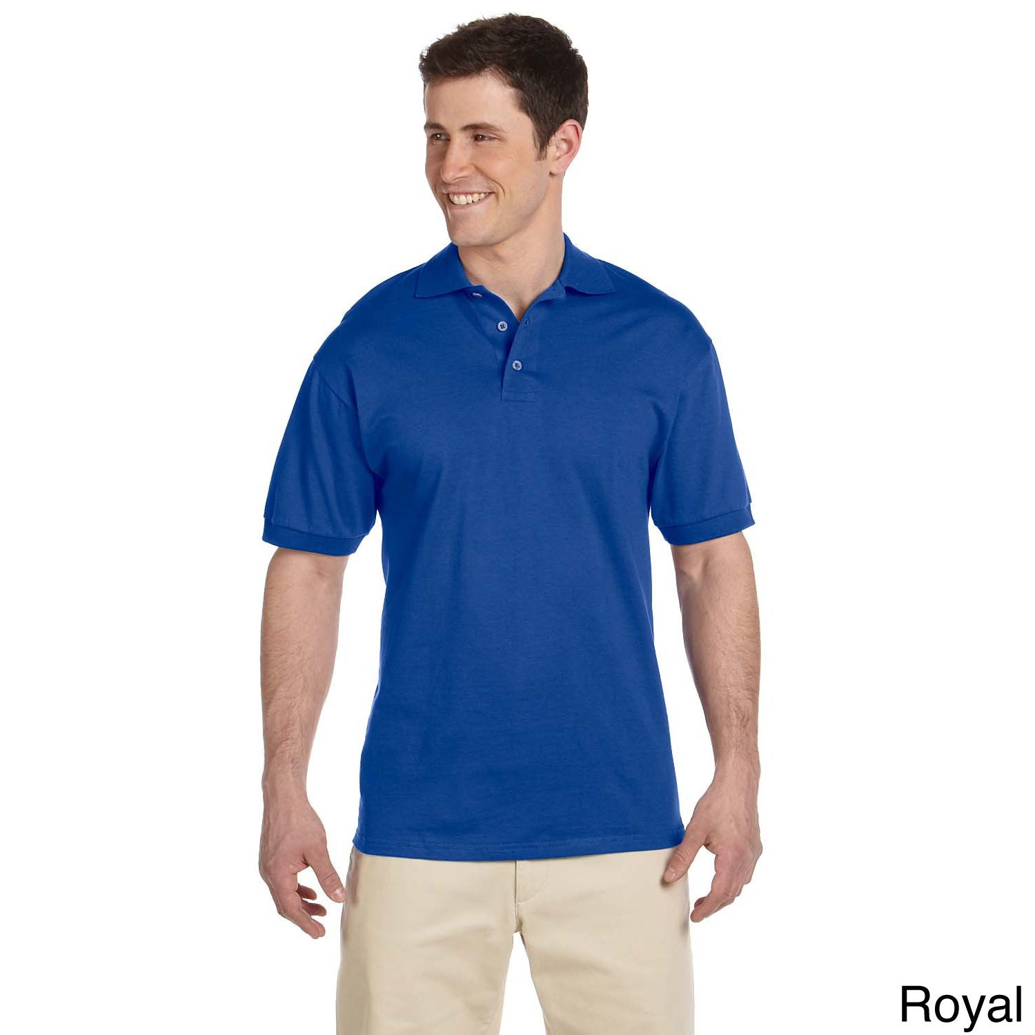 79da2adcb10 Shop Men's Heavyweight Cotton Jersey Polo Shirt - On Sale - Free Shipping  On Orders Over $45 - Overstock - 9007933
