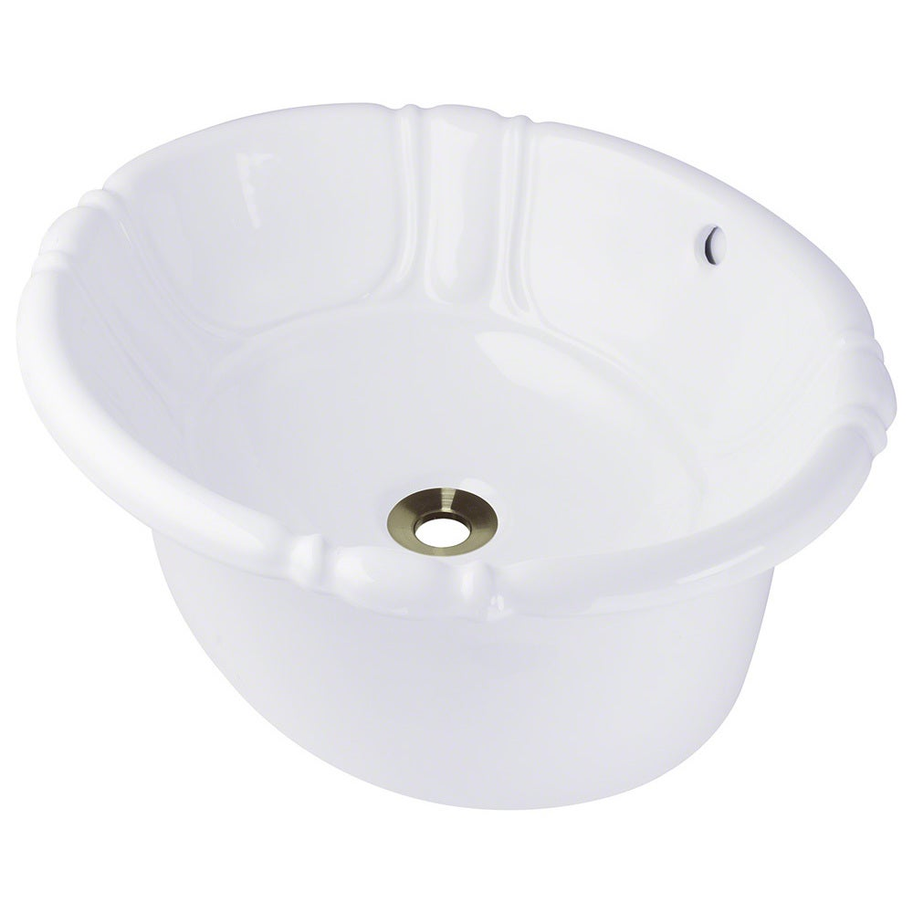 Polaris Sinks P5181ow White Porcelain Vessel Drop In Bathroom Vanity Sink Free Shipping Today 9008206