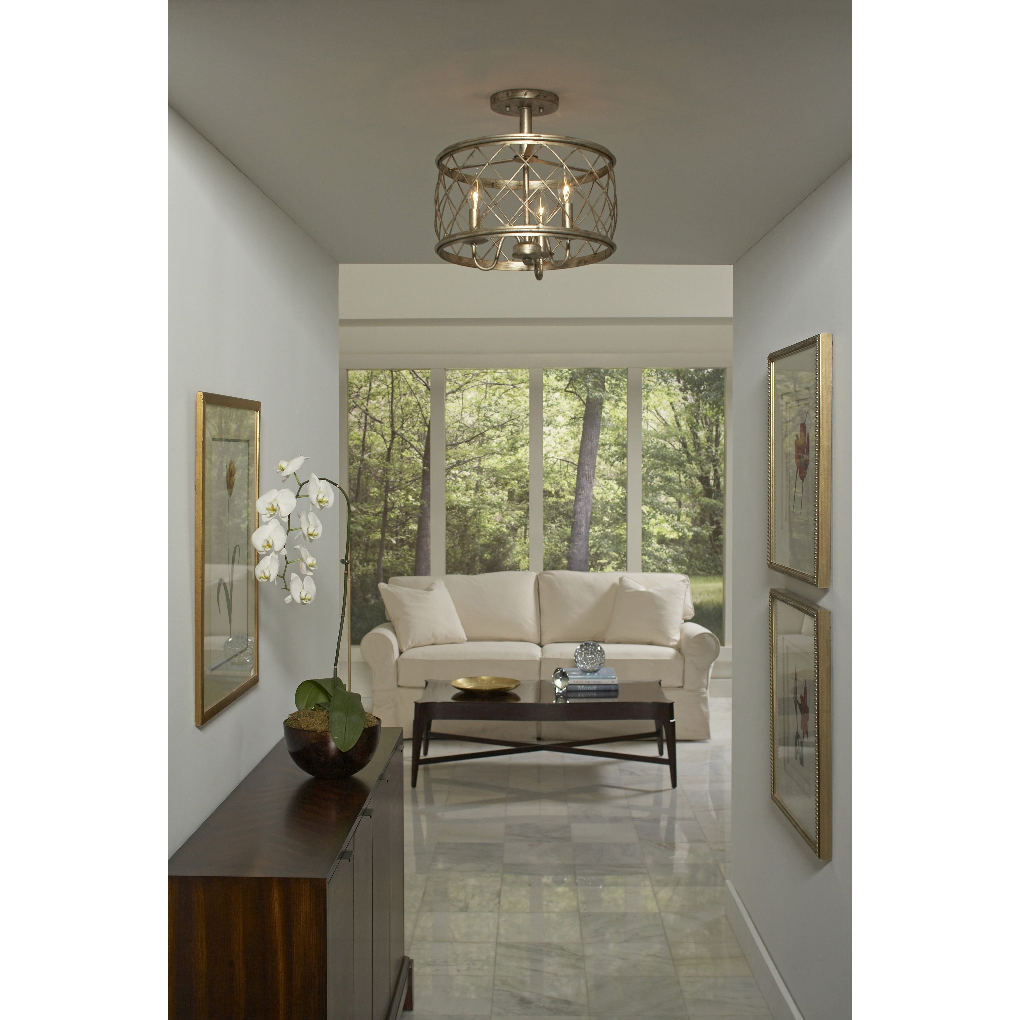 Quoizel dury century silver leaf finish medium semi flush mount quoizel dury century silver leaf finish medium semi flush mount light fixture free shipping today overstock 16211468 arubaitofo Image collections