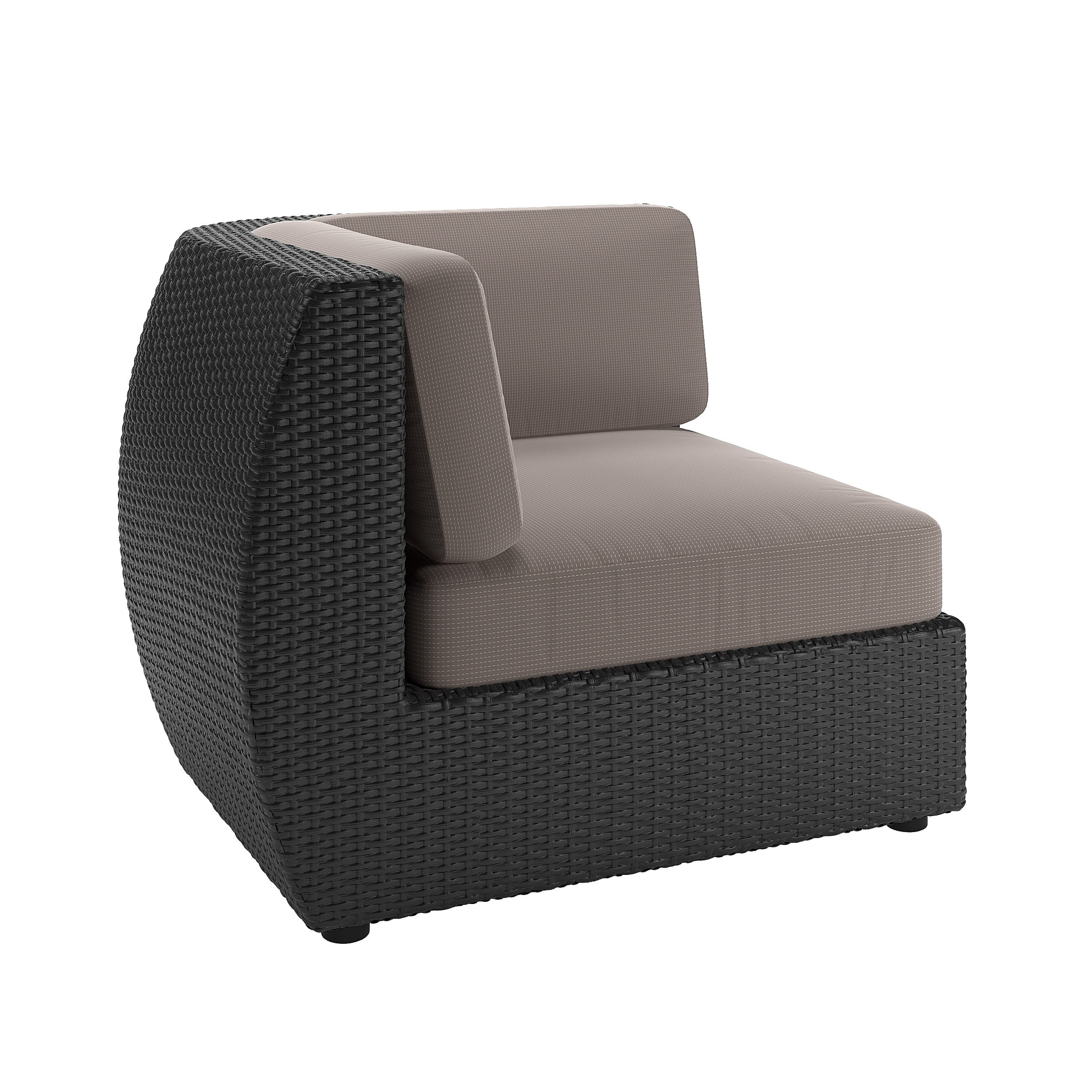 Shop CorLiving Seattle 6 Piece Curved Sectional With Chair Patio Set   Free  Shipping Today   Overstock.com   9009419