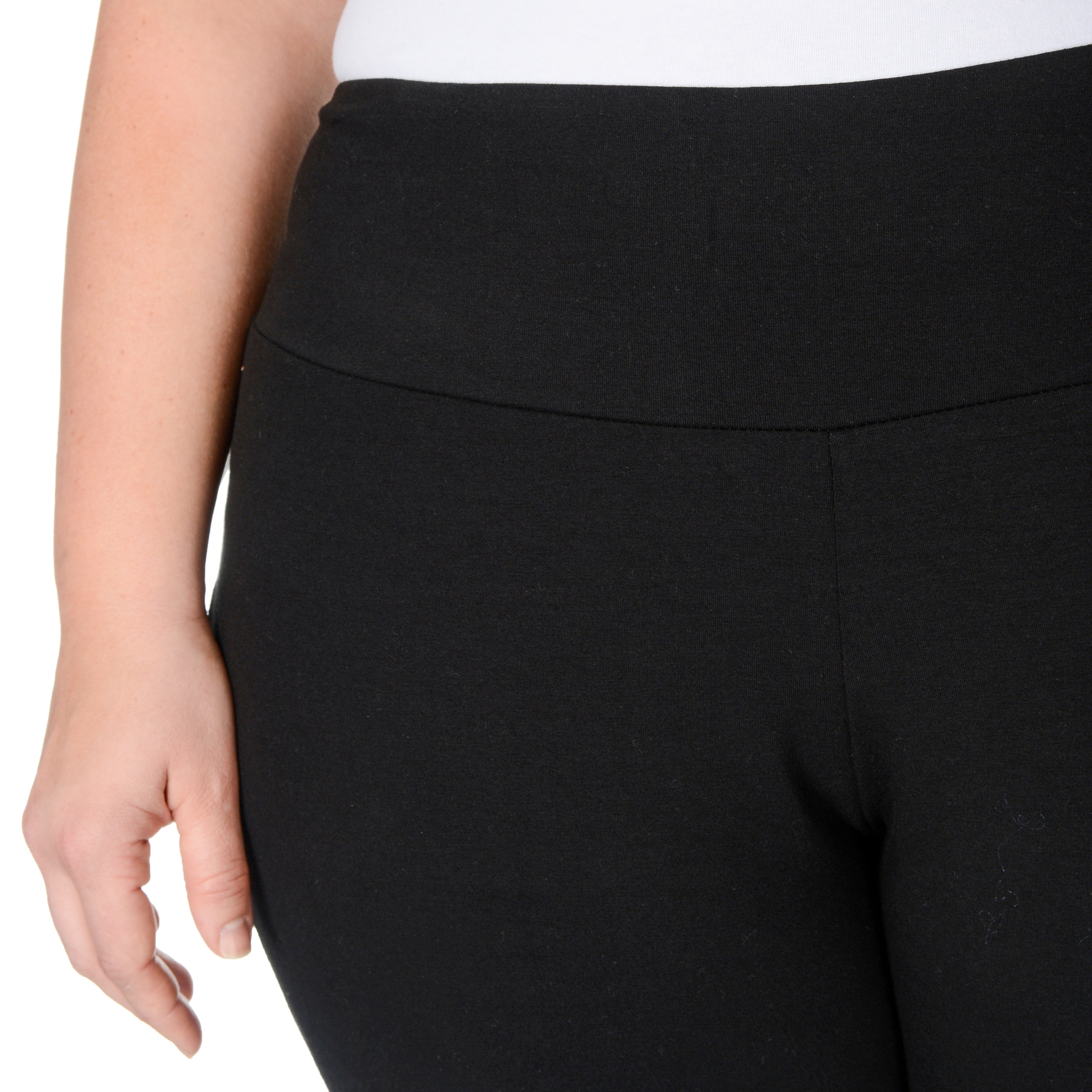 41441ba95908a Shop Teez-Her Women's Plus Size 'The Skinny' Tummy Control Pants - Free  Shipping On Orders Over $45 - Overstock - 9009502