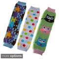 Crummy Bunny Baby Girls' Leg Warmers (Set of 3)