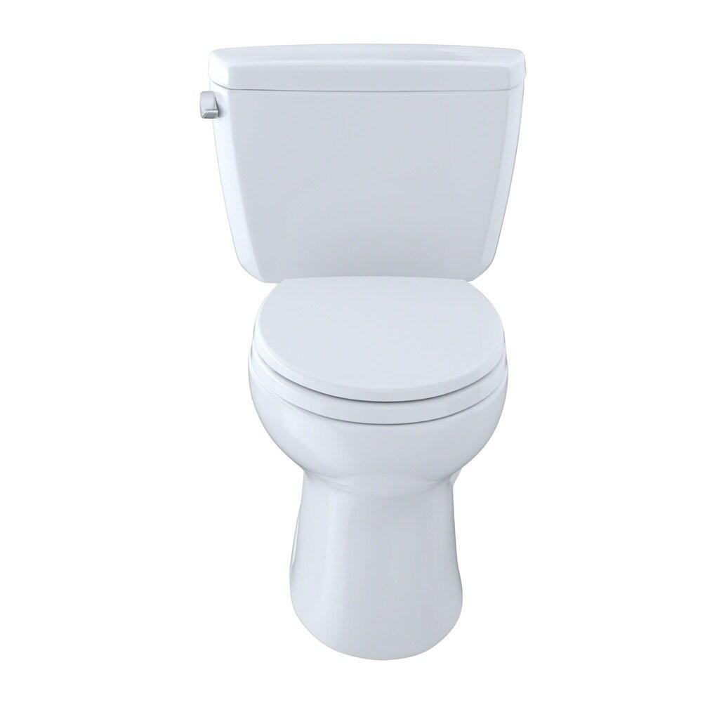 Shop Toto Drake Elongated Cotton White Eco E-Max ADA Toilet - Free ...