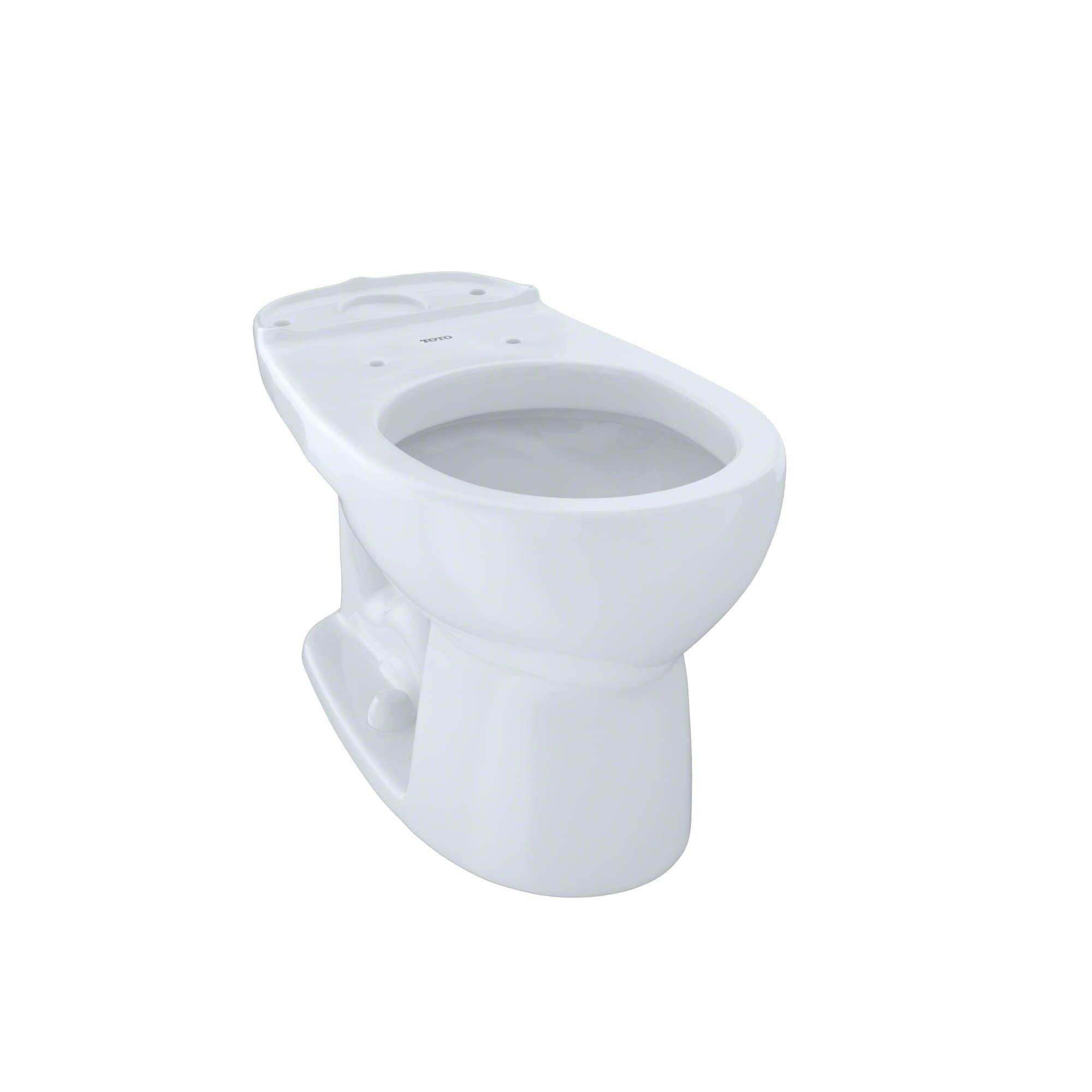 Shop Toto Drake Round Cotton White 1.28-GPF Eco Toilet Bowl - Free ...