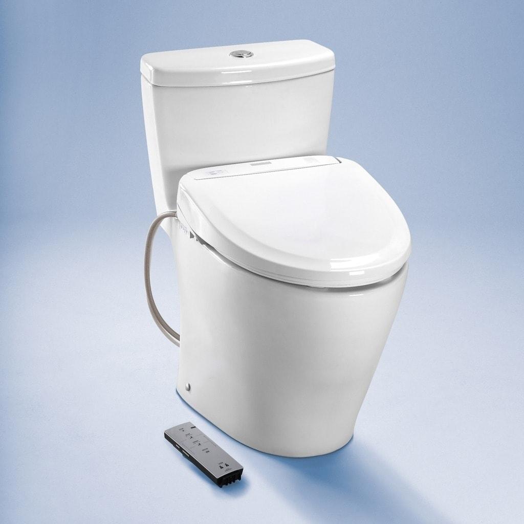 Toto Elongated Cotton White Washlet Toilet Seat - Free Shipping ...