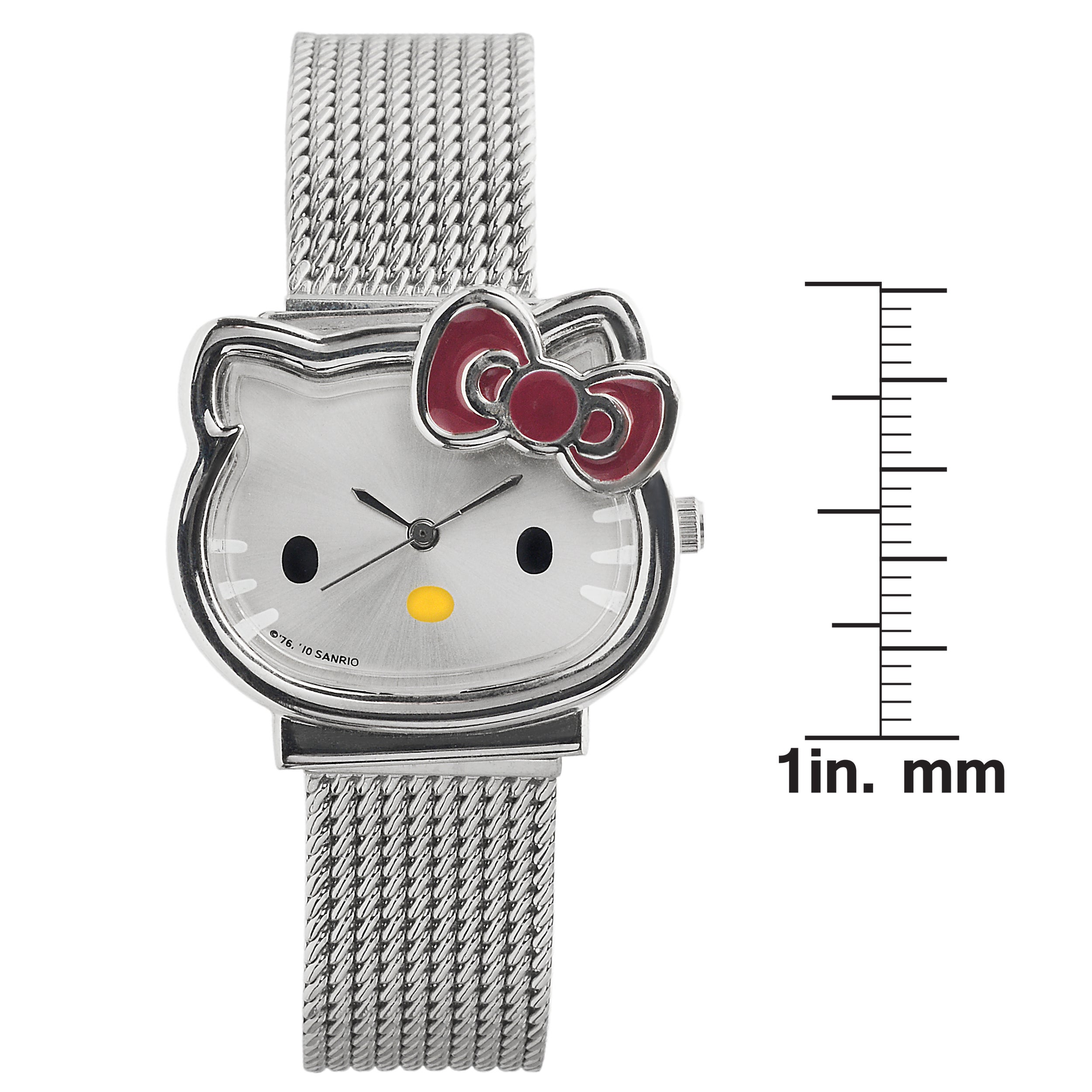 78d1f9a93 Shop Hello Kitty Women's Stainless Steel Analog Mesh Watch - Free Shipping  On Orders Over $45 - Overstock - 9017374