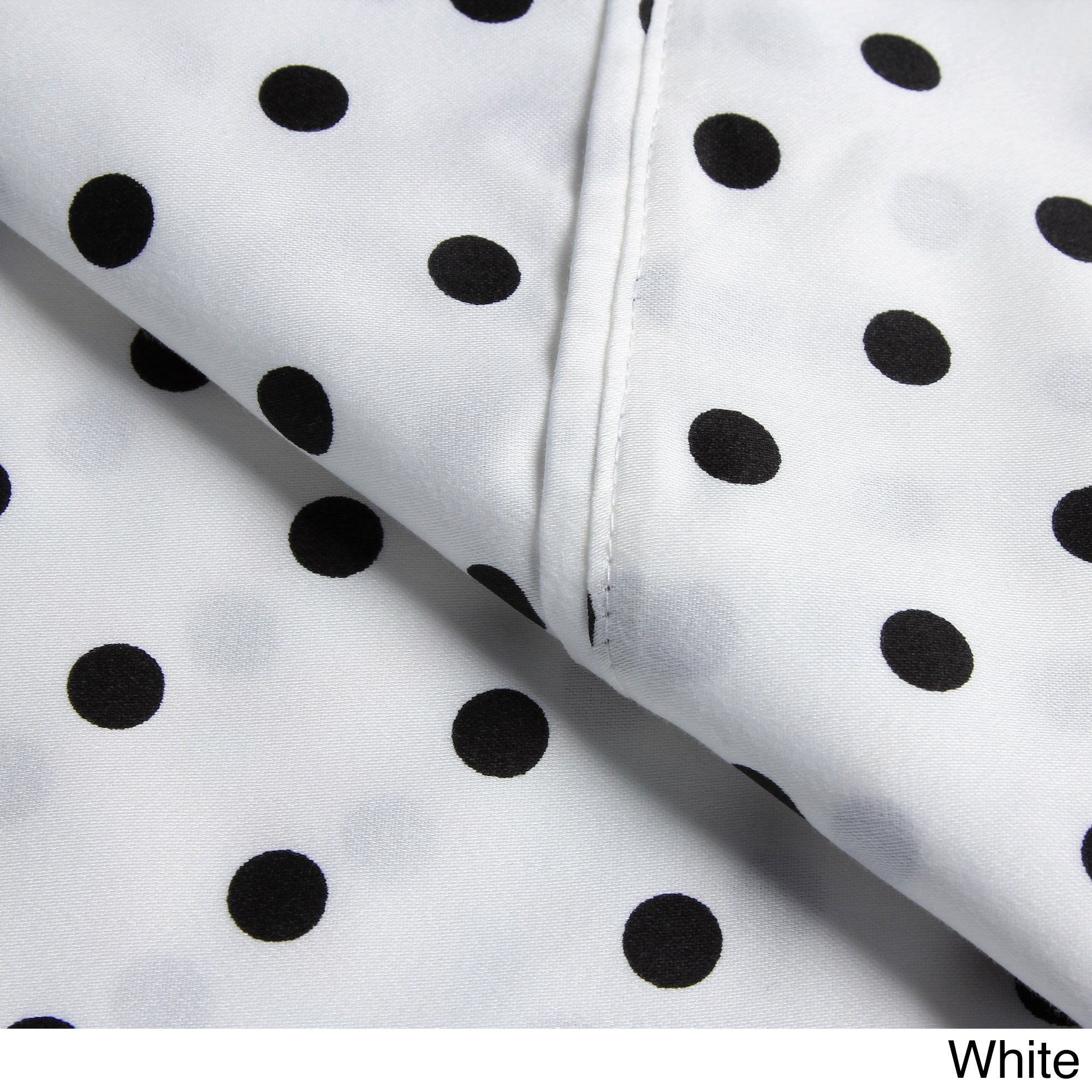 Shop Superior 600 Thread Count Deep Pocket Polka Dot Cotton Blend