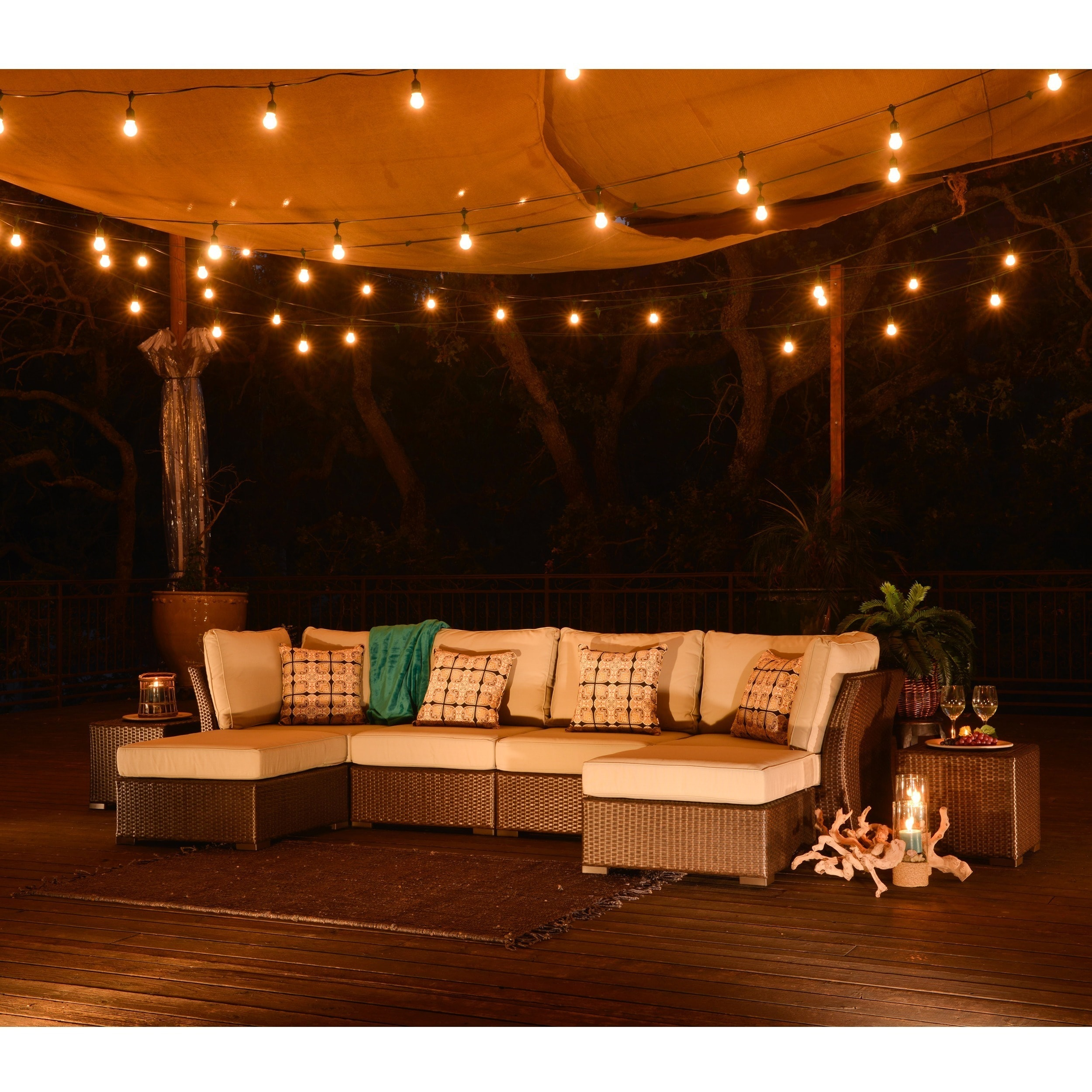 sofa cushion outdoor mcombo set furniture shop wicker sectional black patio product rakuten white