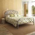 Amisco Alba Silver Grey Full-size Metal Bed