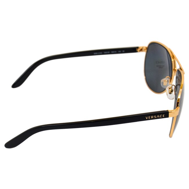 c85db20c508b Shop Versace Women s Gold  Grey Polarized Aviator Sunglasses - Free  Shipping Today - Overstock - 9028056