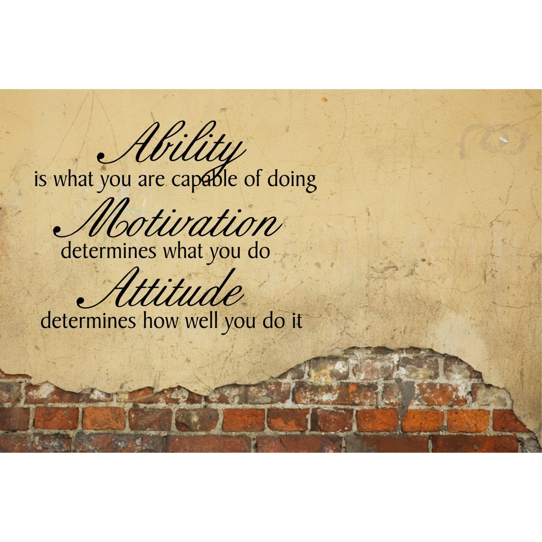 Shop Ability, Motivation, Attitude Inspirational Vinyl Wall Art ...