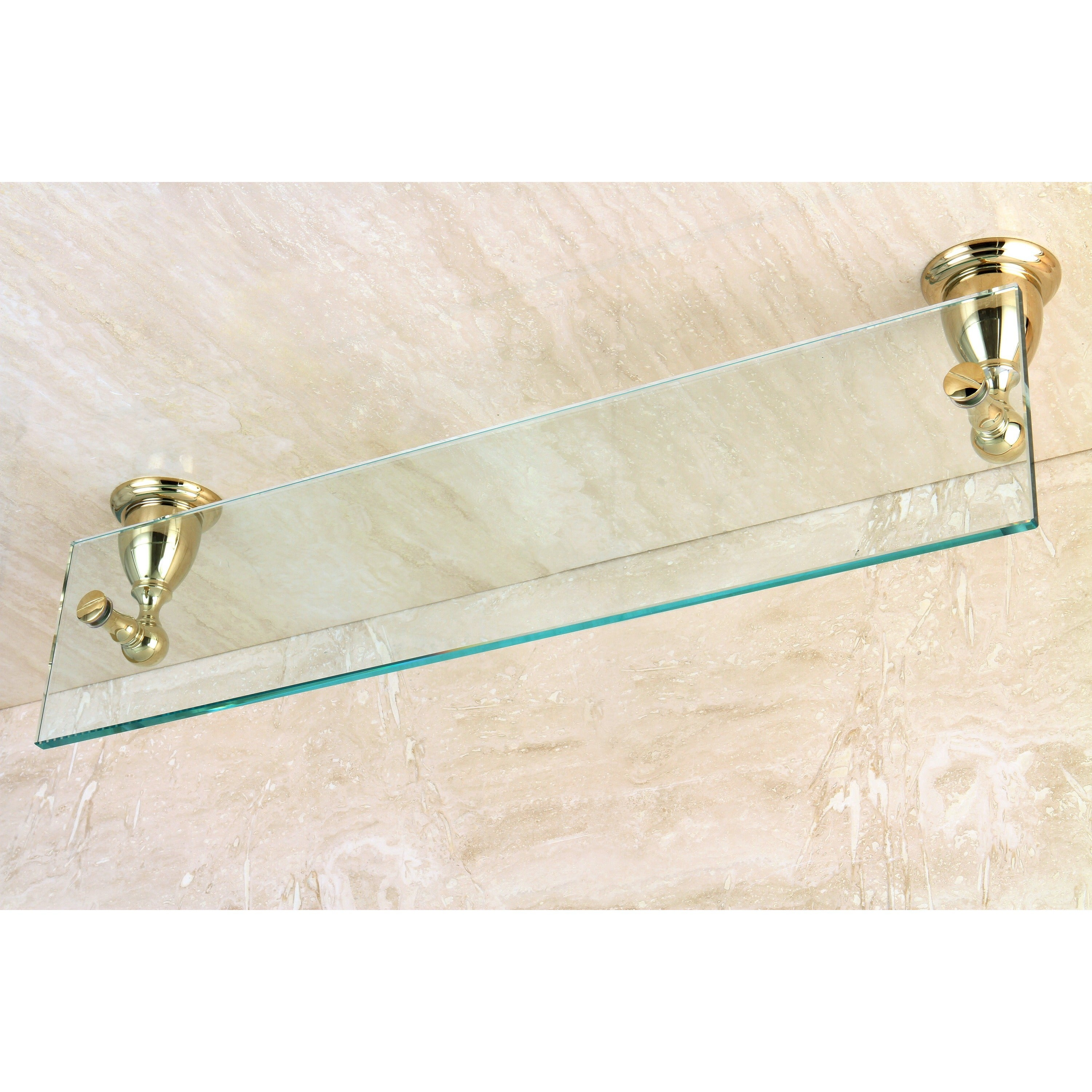 Polished Brass Bathroom Glass Shelf - Free Shipping On Orders Over ...