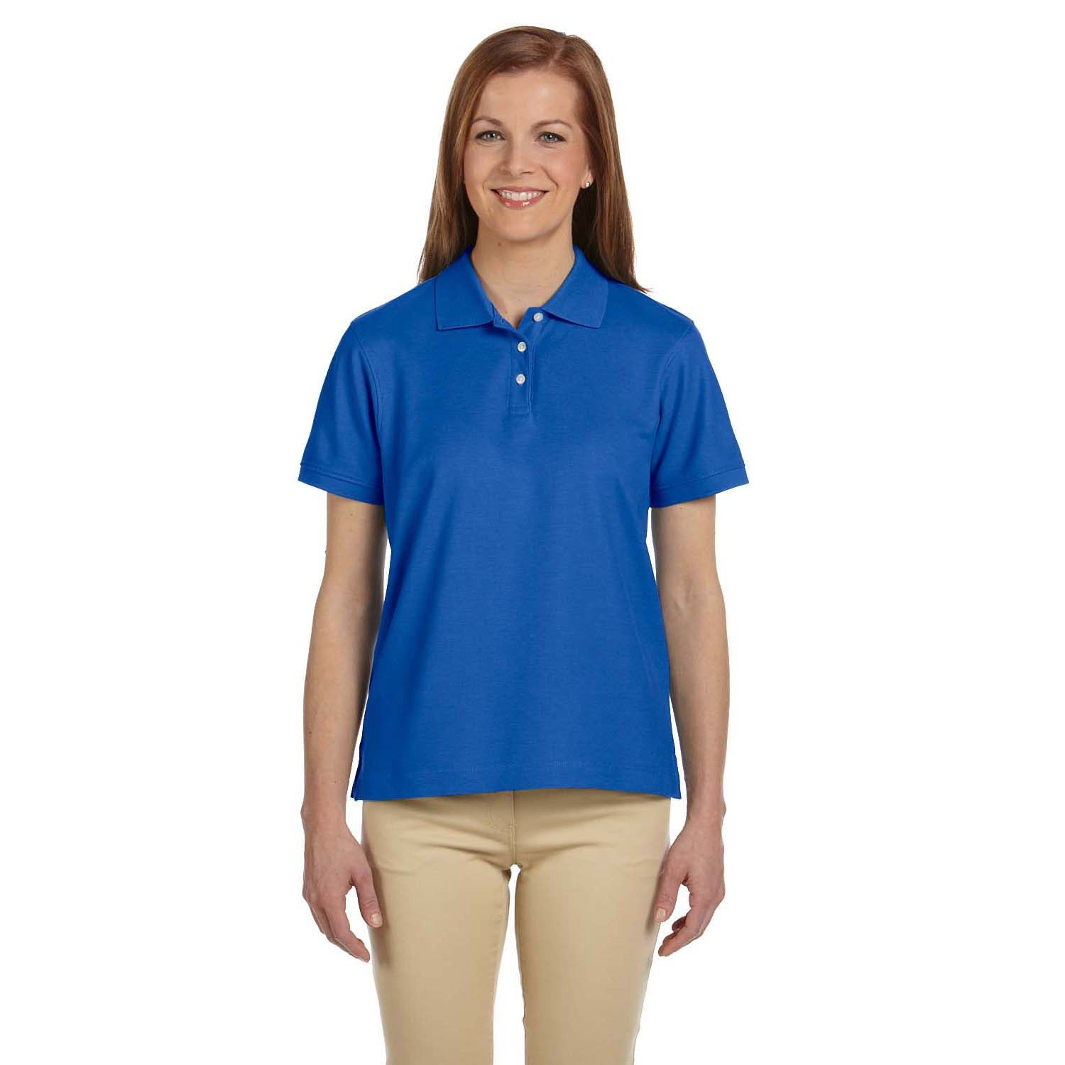 4406df2d Shop Women's Pima Pique Short Sleeve Polo Shirt - On Sale - Free Shipping  On Orders Over $45 - Overstock - 9031438