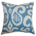 Hohenems Ikat Down Filled Throw Pillow Aqua