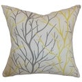 Fderik Trees Down Filled Throw Pillow Canary