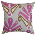 Sakon Ikat Pillow Down Filled Throw Purple Brown