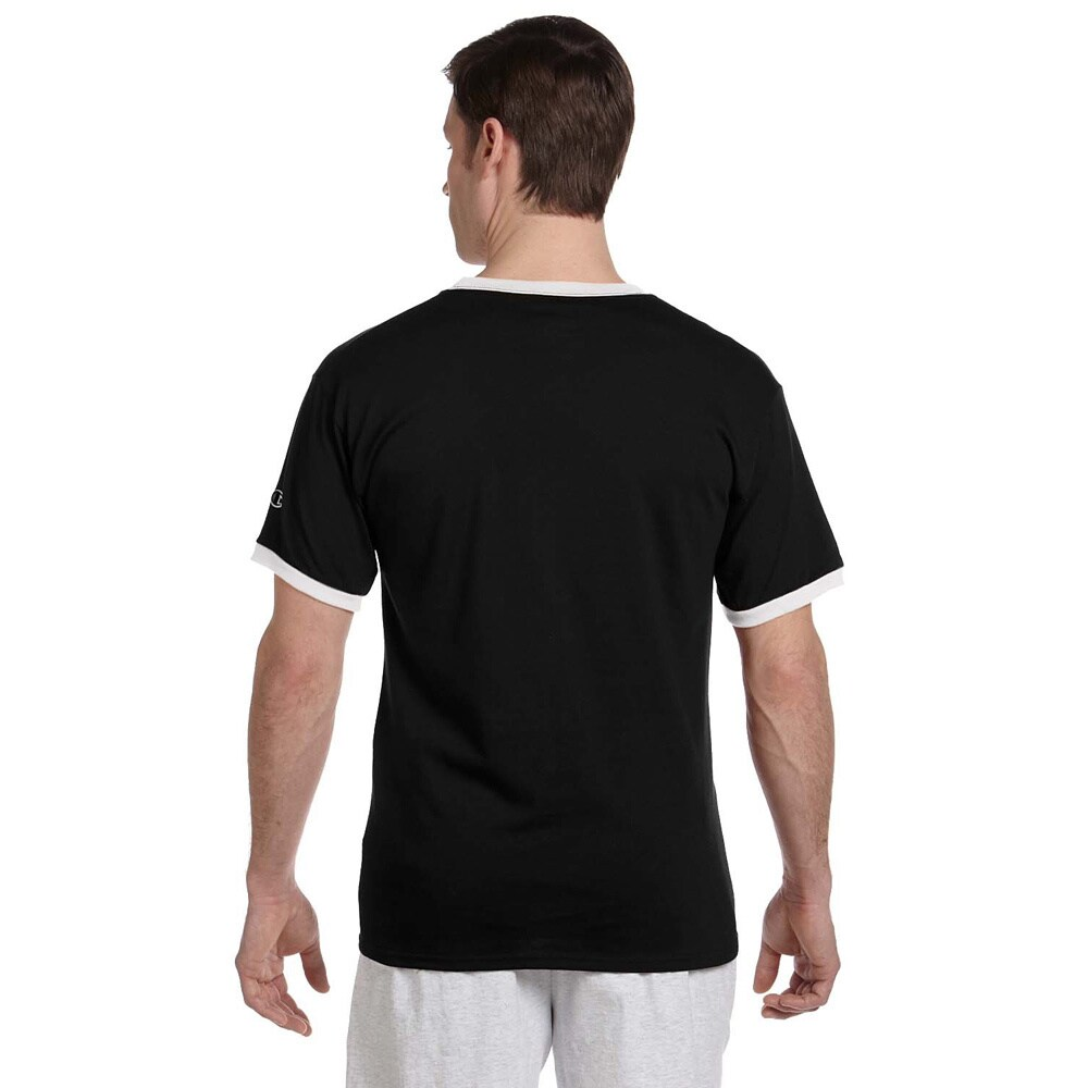 712ae609 Shop Champion Men's Tagless Ringer T-shirt - Free Shipping On Orders Over  $45 - Overstock - 9037327