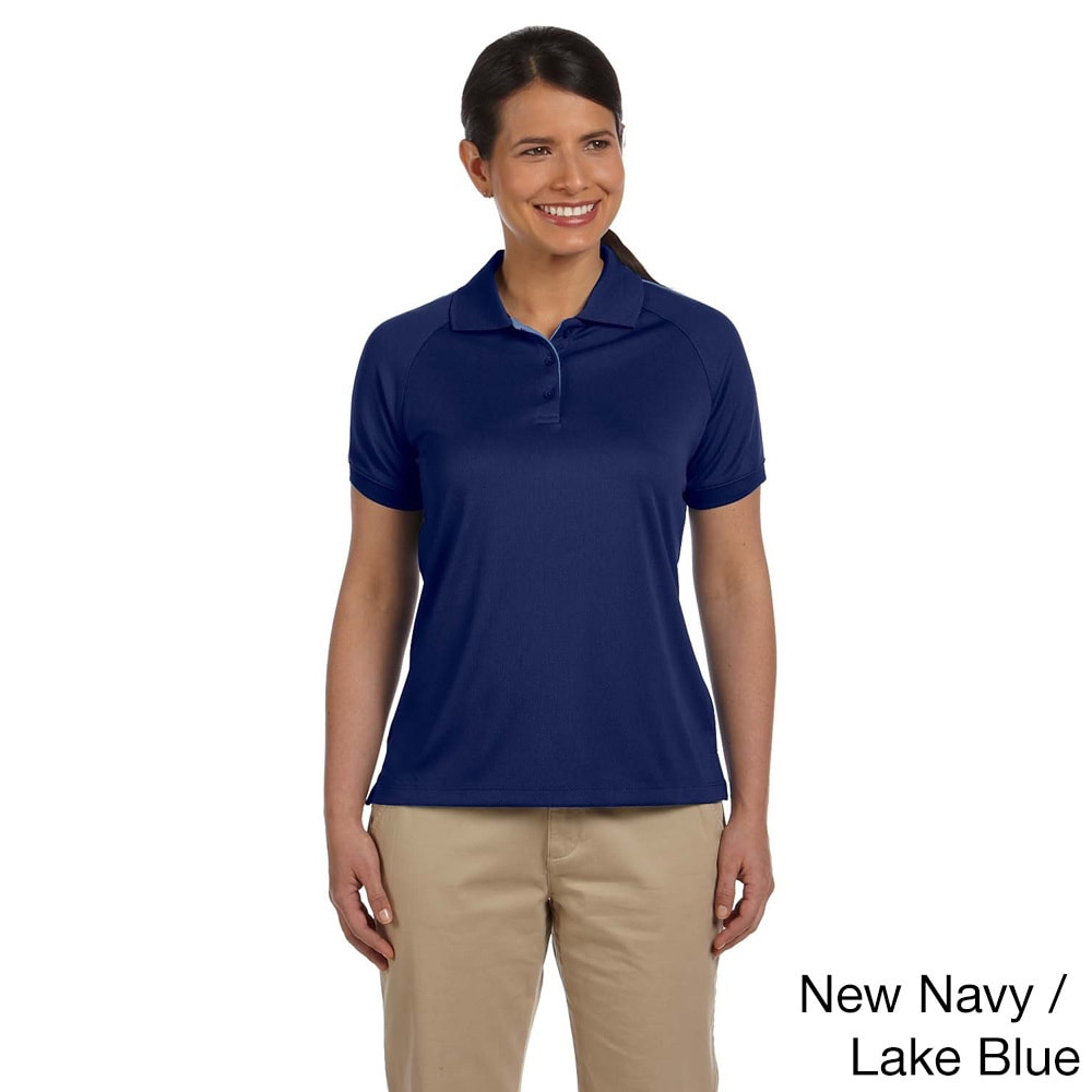 Shop Womens Dri Fast Advantage Colorblock Mesh Polo On Sale