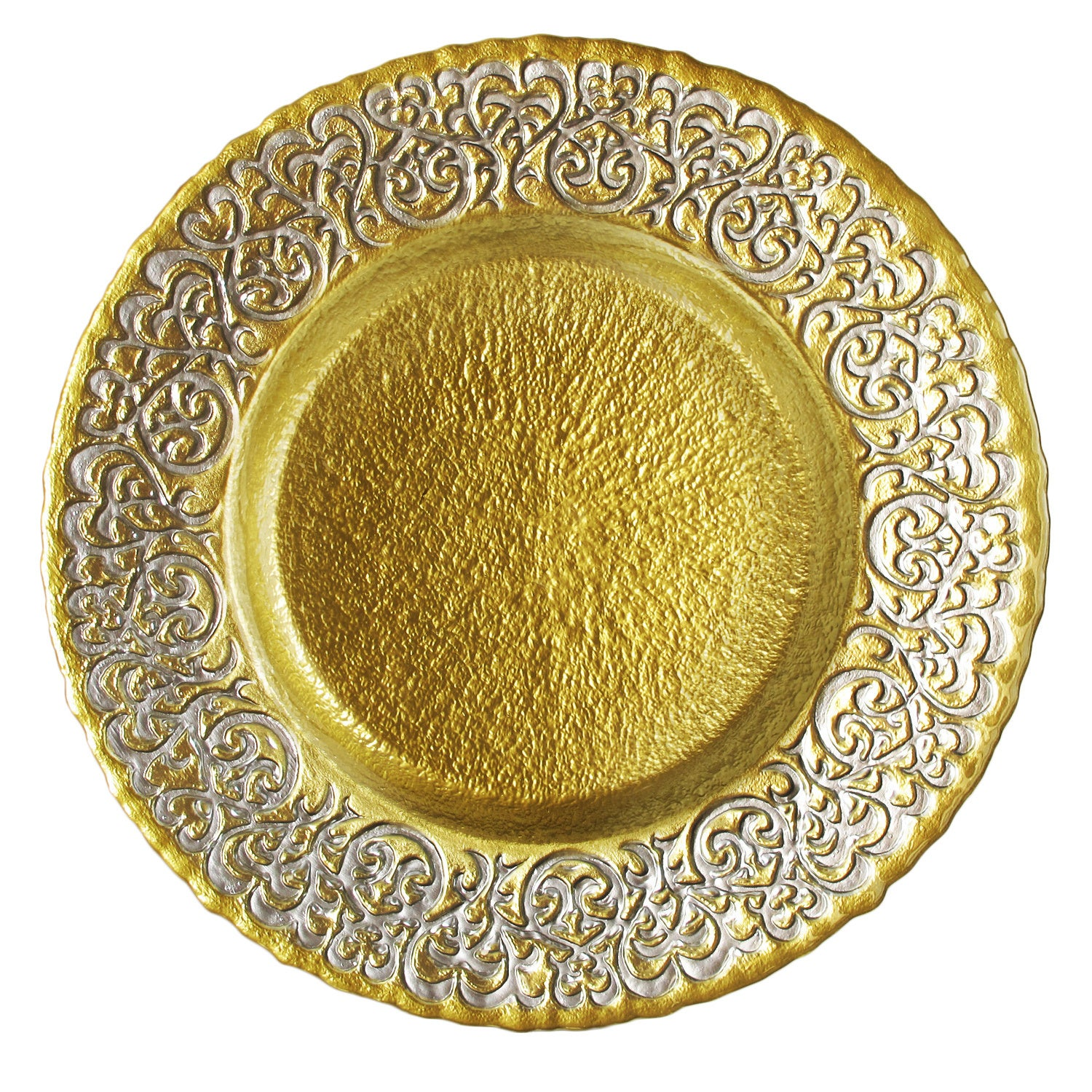 Shop Baroque 13-inch Two-tone Charger Plate - On Sale - Free ...