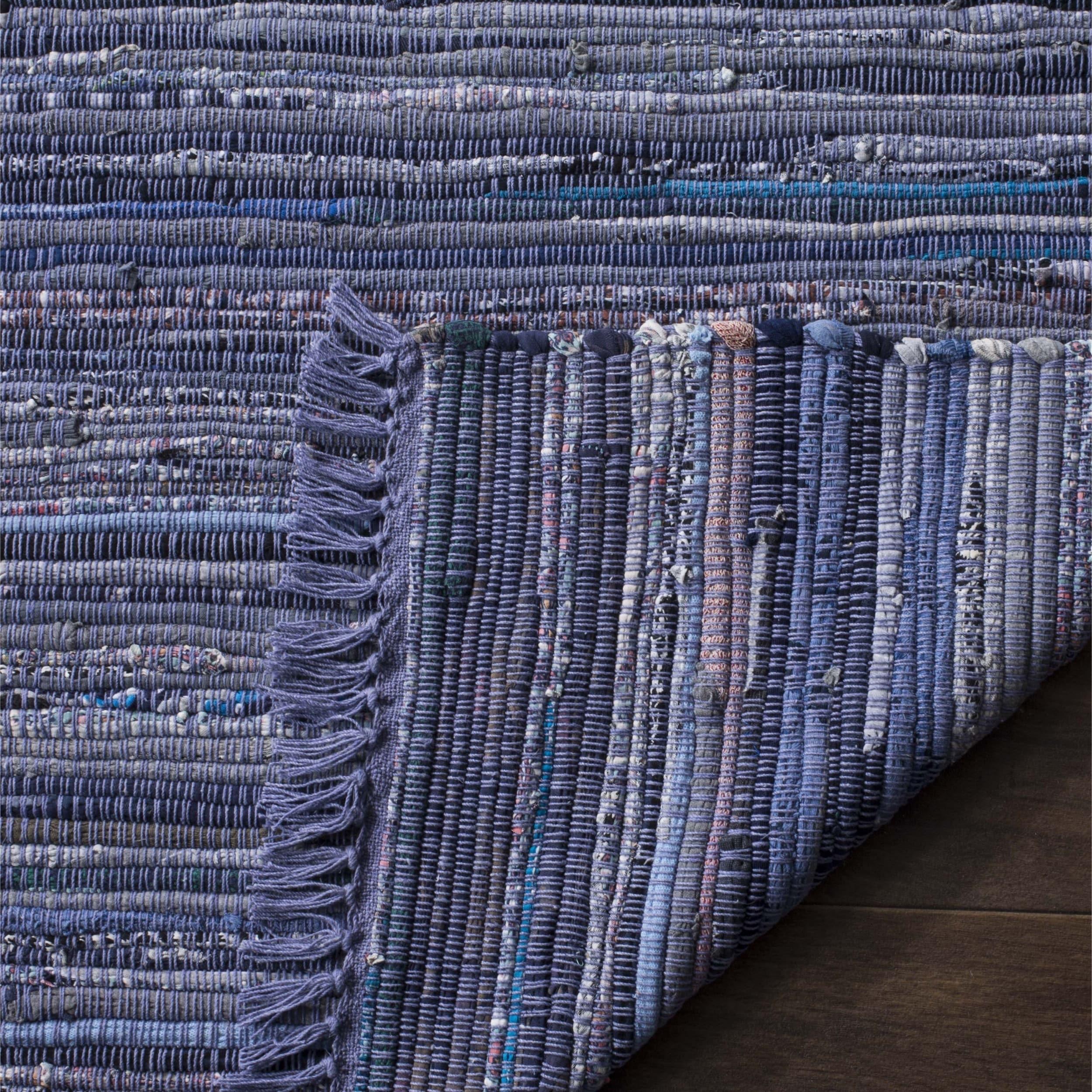 Safavieh Hand Woven Rag Rug Purple Cotton 8 X 10 Free Shipping Today 16240867