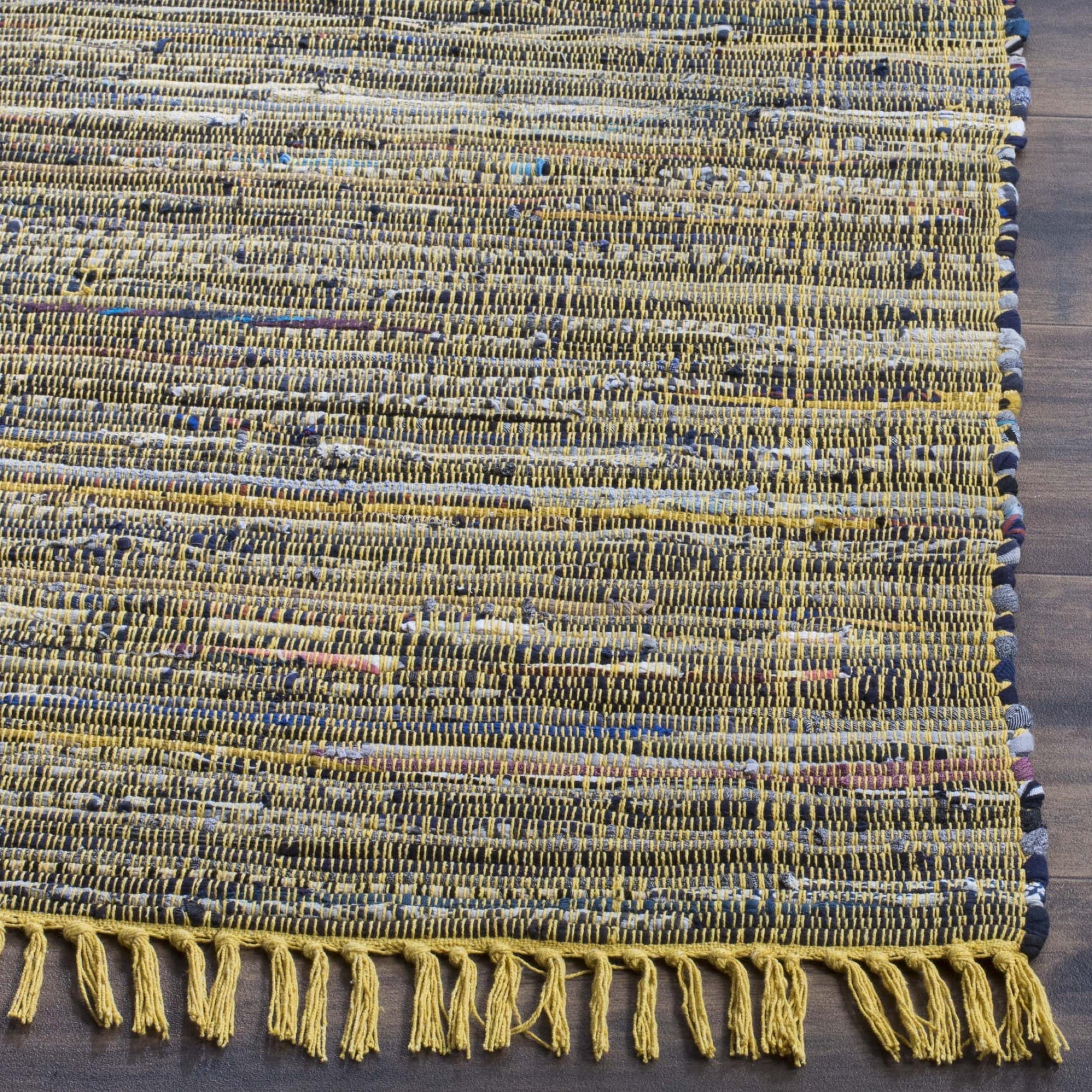 Greatest Safavieh Hand-woven Rag Rug Yellow Cotton Rug - 5' x 8' - Free  HO64