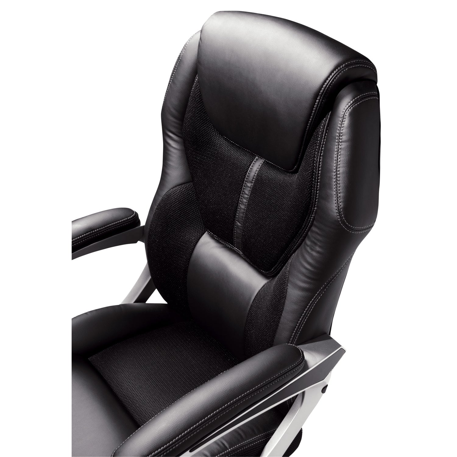 Serta Black Puresoft Faux Leather And Mesh Executive Office Chair   Free  Shipping Today   Overstock   16241317
