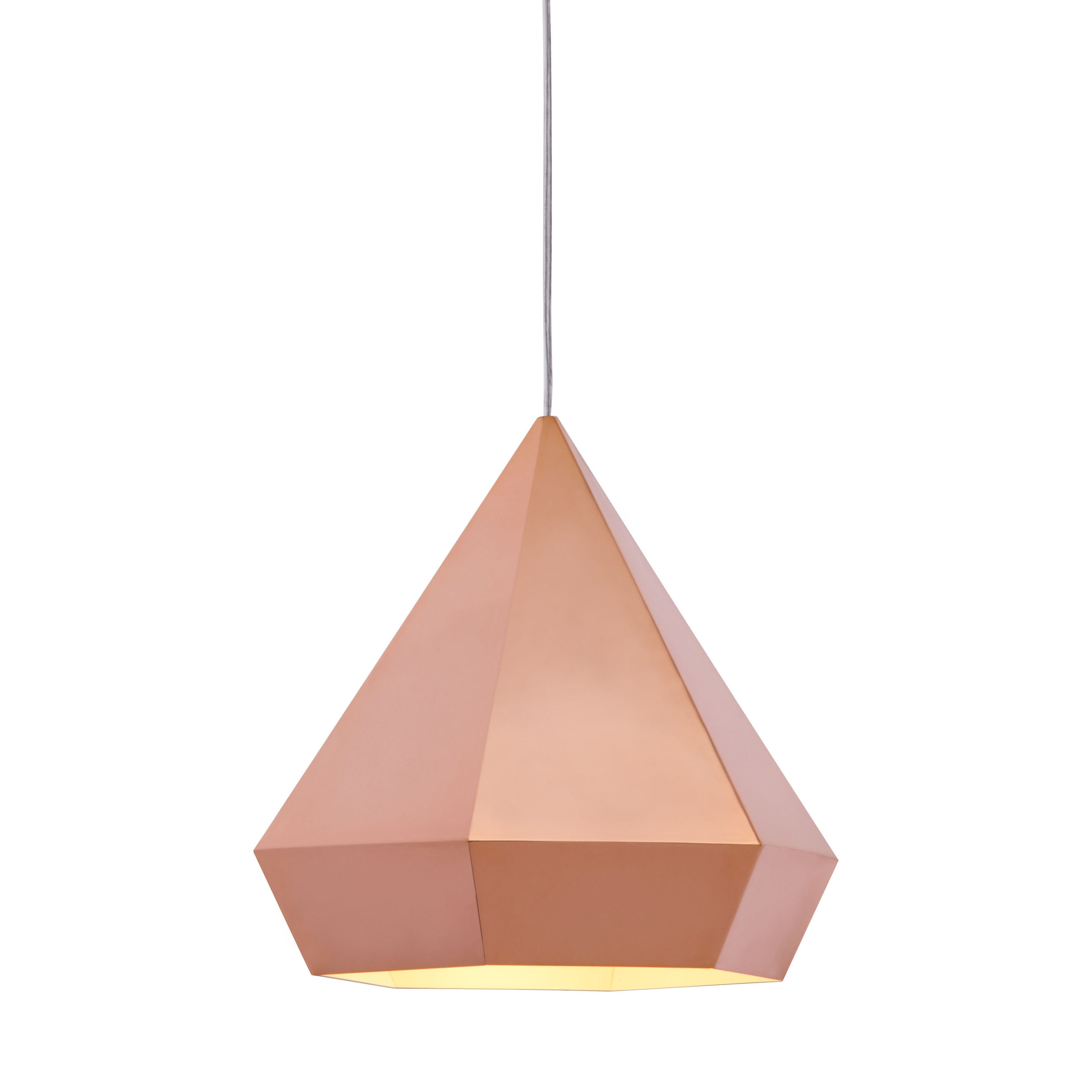shop forecast single light rose gold ceiling lamp free shipping