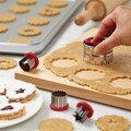 Cake Boss Red Decorating Tools 6-Piece Classic Linzer Cookie Cutter Set
