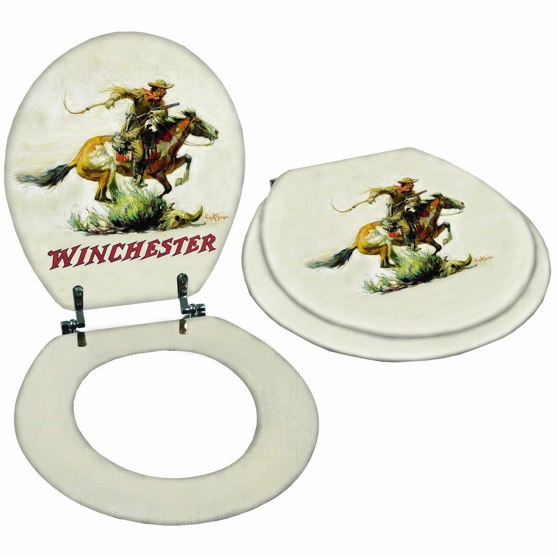 Shop Rockin W Brand Winchester Horse & Rider Toilet Seat - Free ...