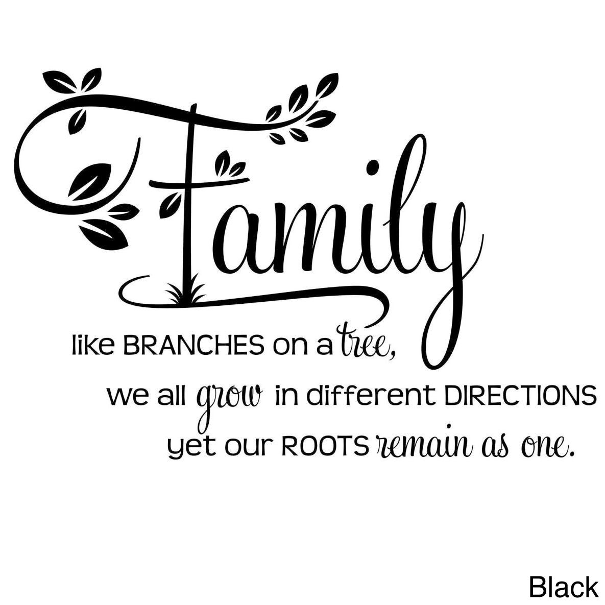 Shop Family Like Branches On A Tree Two Tone Vinyl Wall Decal