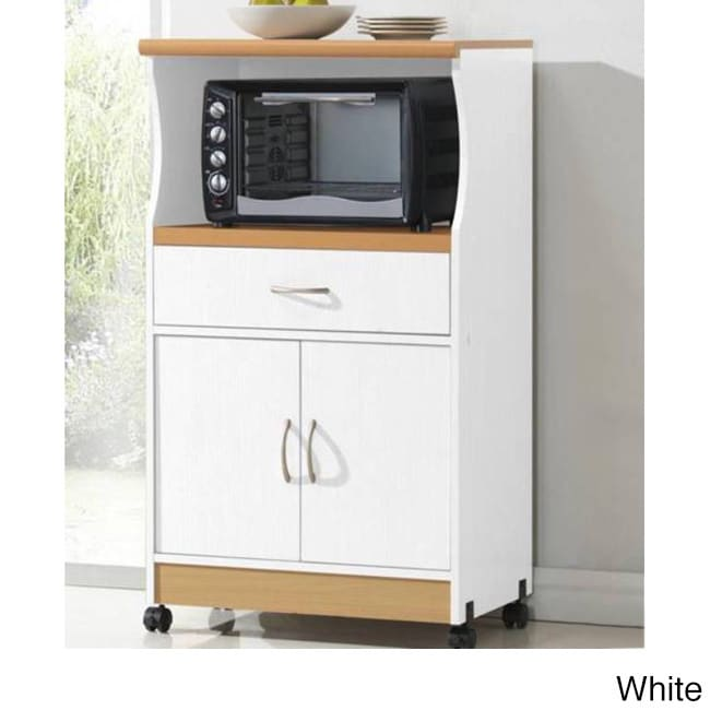 Microwave 2 Door Wood Cart Stand Free Shipping Today 9046322