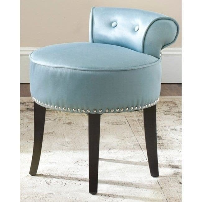Safavieh Georgia Teal Vanity Stool On Free Shipping Today 9048887