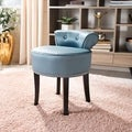 Safavieh Georgia Teal Vanity Stool
