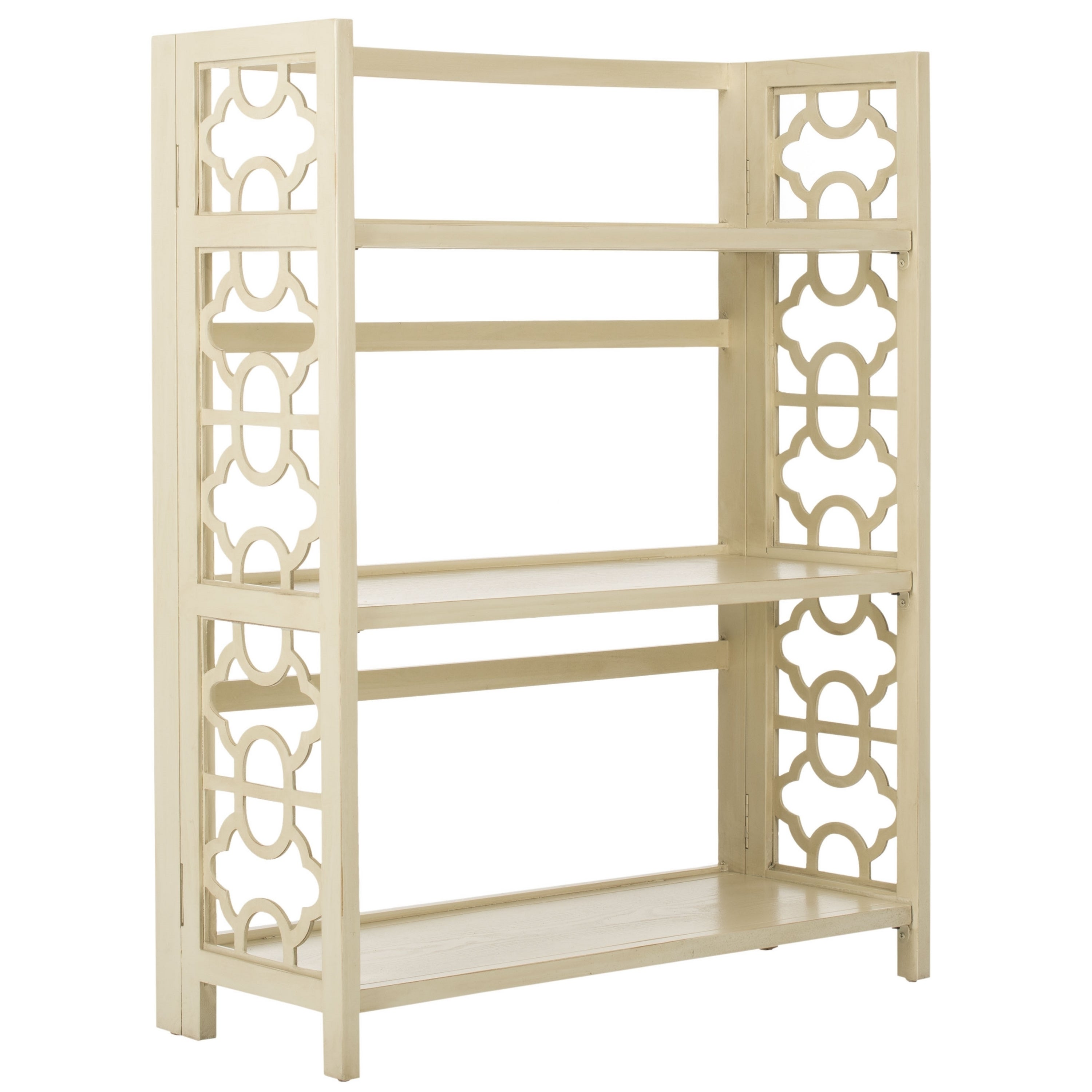 Safavieh Natalie Antique White Low Bookcase Free Shipping Today 9048945