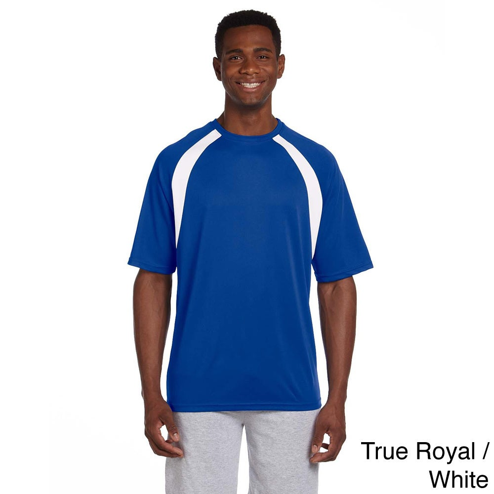 47cbfd378b Shop Men s Athletic Sport Colorblocked T-shirt - On Sale - Free Shipping On  Orders Over  45 - Overstock - 9049051