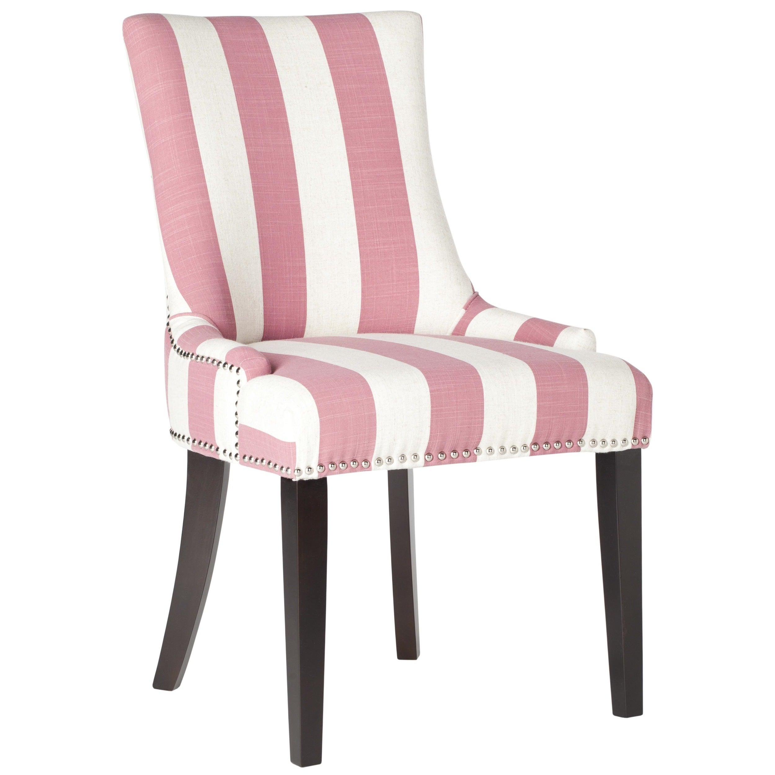 Safavieh En Vogue Dining Lester Pink/White Stripe Dining Chairs (Set Of 2)    Free Shipping Today   Overstock.com   16245806