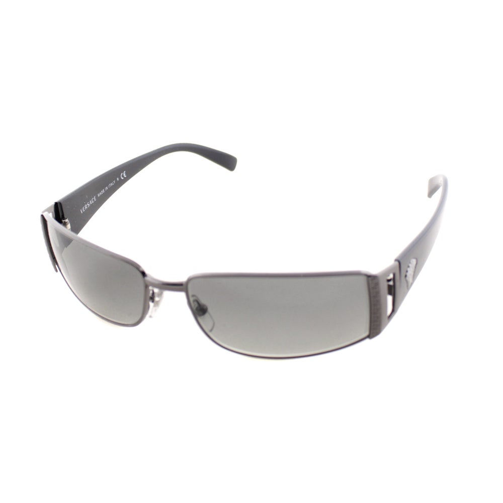 c48d44aac937 Shop Versace Unisex  VE 2021 1001 11  Pewter Grey Gradient Lens Sunglasses  - Free Shipping Today - Overstock - 9050609