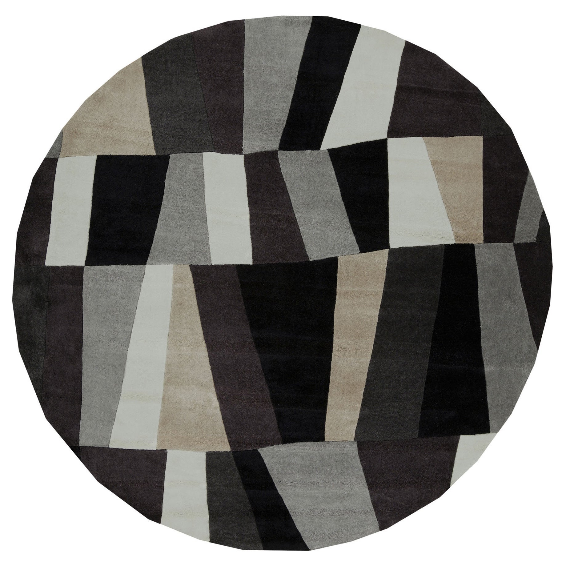 Hand Tufted Geometric Contemporary Round Area Rug (8u0027 Round)   Free  Shipping Today   Overstock.com   16247512