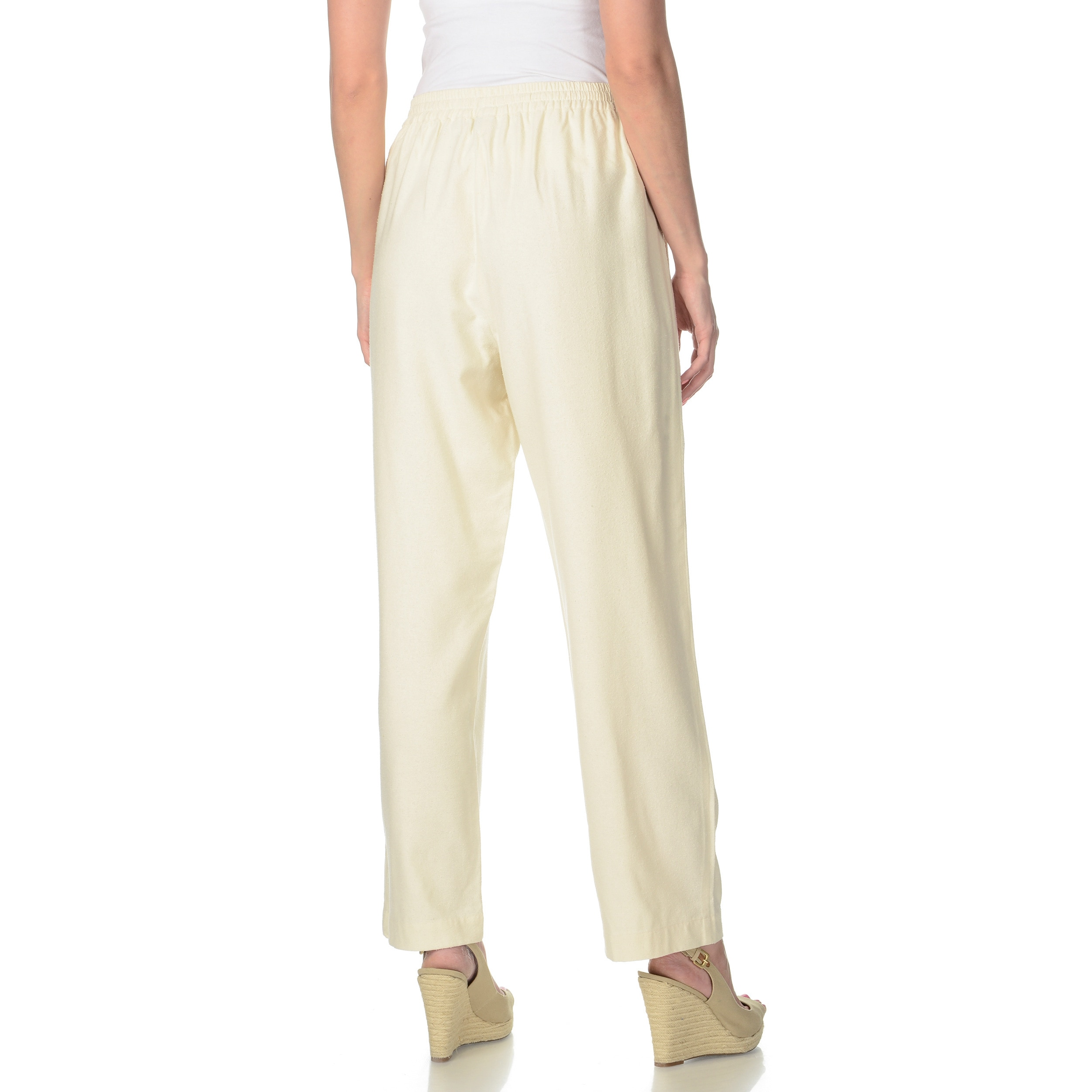8d3babce196 Shop La Cera Women s Silk Wide-leg Pants - Free Shipping On Orders Over  45  - Overstock - 9051193